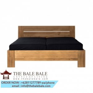 bed with slats, mattress ,