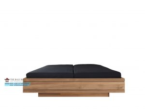 bed with slats, mattress