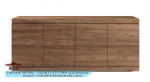 Teak Burger sideboard - 4 doors_open1